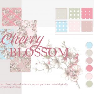 Cherry Blossom Pattern Swatch